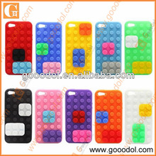 Silicone 3D Toy Brick Phone Case with Stand for iPhone5