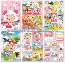 2013 Cartoon fashion promotion pvc sticker Packaging Label party goods