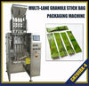Multi-lane sugar stick packing machine