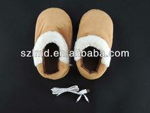 usb piede caldo donne scarpe lontano elettrico scaldapiedi pantofole