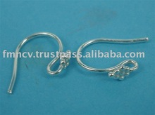 EWFMN44 - 925 Sterling Silver French Ear Hooks with Fancy Cluster Top