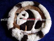 "Alpaca Pillow Case / Alpaca Rug 20"" Fur Both sides Peru"