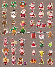 2013 Wholesale fashion promotion pvc sticker christmas sticker sound activated equalizer sticker