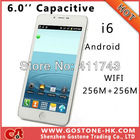 Newest I6 Dual Card Android 2.3 Smart Mobile Phone 6.0'' Big Screen SC8810