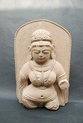 broken arm indian goddess statue