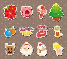 2013 Cartoon fashion promotion pvc sticker christmas sticker trees and leaves wall art