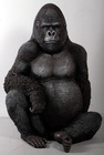 resin life size silver back gorilla