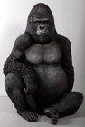 resin life size silver back gorilla
