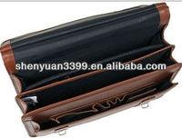 Classic Style Men Leather Business Briefcase/Laptop Bag/Messenger bag