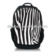 Fashion Zebra Laptop Bag Backpack School Book Backpack Travel Bag Fit Pretty Person