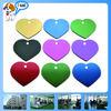 Heart Shape aluminum blank Luggage Tag