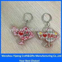 Hot-sale bali souvenir clear acrylic keychain key chain wholesale