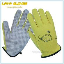 Yellow Waterproof Garden Glove with Dot
