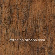 24x24'' Old Nanmu design ceramic tile rectified edge wood look