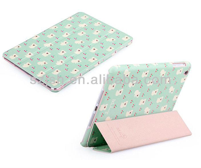 pu leather case for ipad mini,cute design OEM cases for ipad