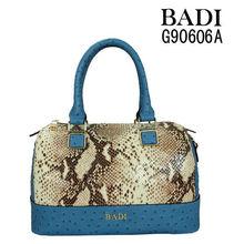 badi tote elegant leather bags ostrich snake texture handbag genuine leather