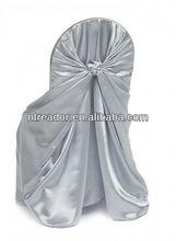 satin big bag universal chair cover white
