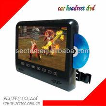 car headrest dvd with 9inch High definition Headrest Entertainment System