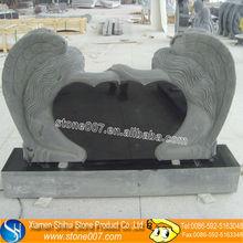 Custom Designs double heart shaped headstone tombstone
