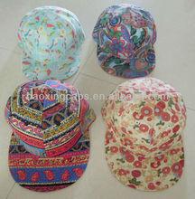 unisex floral hiphop/skateboard/dance/Bboy hat snapback cap