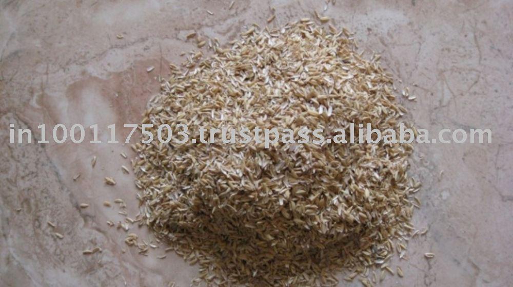 La cáscara de arroz