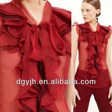 E+H1860 2013 wholesale ladies organza top and blouses fashion blouses Silk Organza Blouse