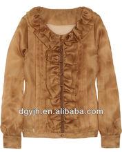 E+H1861 2013 wholesale ladies organza top and blouses fashion blouses Silk Organza Blouse