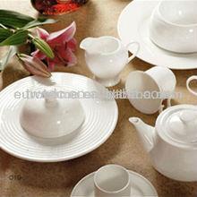 High grade royal white fine bone china porcelain dinner set