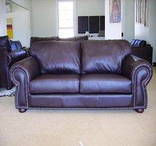 Inyanga 2.1m Bovine Oxblood Leather sofa