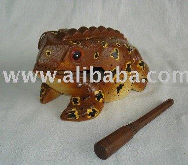 Wooden croaking frogs