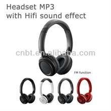 Top sale headset mp3 sd slot with FM radio