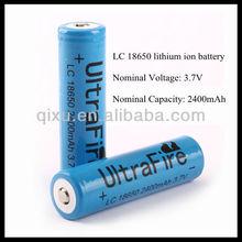 3.7V 2400mah rechargeable li ion battery