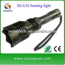 SG-L01 cree Q5 tactical long range hunting flashlight green/red led