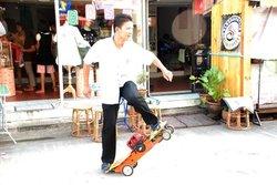 Gas skateboard INNOVATIONMAN / Motorized Skateboard / All terrain Mini Quad / gas scooter Gasoline Motorized Scooter