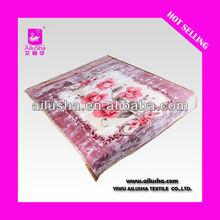 ALS-DESIGN8057 Stock Super Red Soft 100% Polyester Polar Fleece Blanket