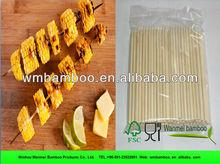 OPP packing flexibe round bamboo skewer in bag