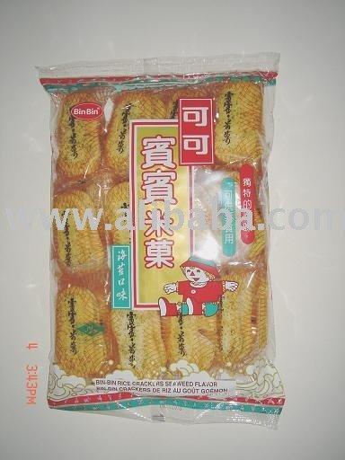 Bin Bin Rice Cracker - Seaweed