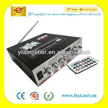 office DC12V/AC220V amplifier YT-329A /remote control mp3 player
