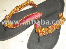 pretty sandals macrame decorated