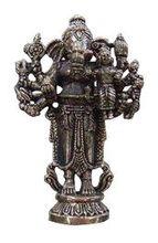 Ganesh Standing 10 Arms 7 cm Miniature Statue