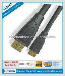 High Speed 1080P mini hdmi cable a cable rca