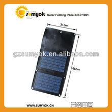 Poly 10W 12V folding solar panel for emergency mobile charging