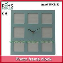 New style wood photo clock