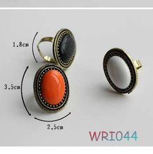 Latest fashion lucite adjustable ring