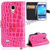 For Samsung S4 Mini Cover! Crocodile Leather With Holder Covers for Samsung S4 Mini i9190,Hot Pink