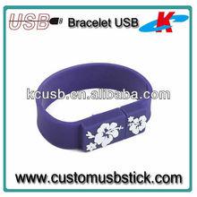 Wholesale Price Bracelet PVC 16gb USB charger