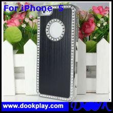 Deluxe Diamond Rhinestone Glitter Bling Chrome Hard Case Cover for Apple iPhone 5 5G
