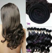 Cut from one girl head each bundle russian body wave hair