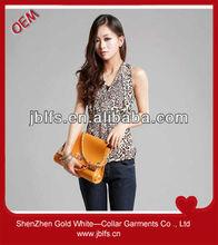 OEM high quality women's leopard print tops