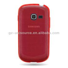 Samsung GALAXY DISCOVER S730G CASE RED CHECKER SKIN CRICKET NET10 STRAIGHT TALK